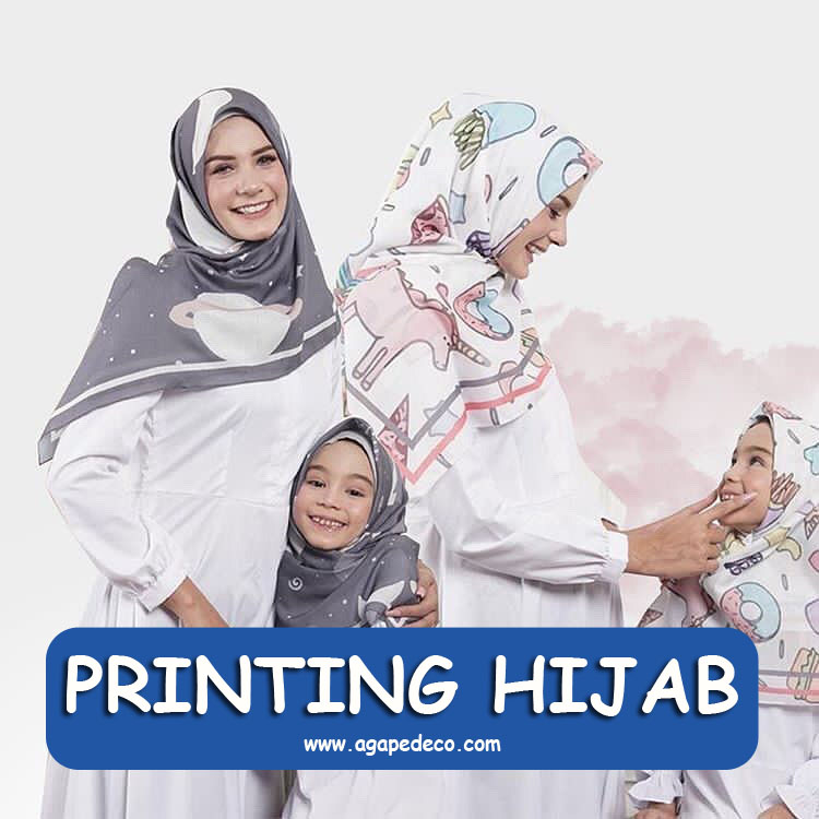 sablon hijab jilbab printing kekininan
