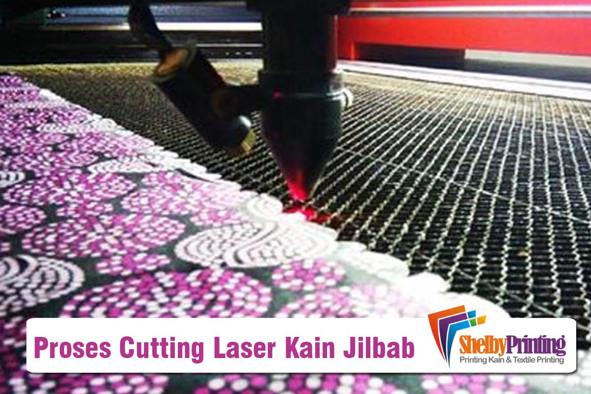 Proses Cutting Laser Kain Jilbab